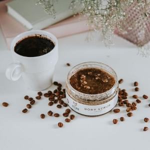 vegan body scrub coffee