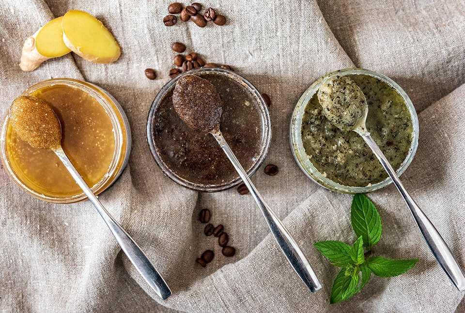 Vegan-Fox-ginger-body- scrub-coffe-body- scrub-peppermint-body- scrub