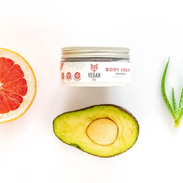 Grapefruit body cream avocado oil aloe vera extract vegan fox hand made