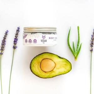 Lavender body cream avocado oil aloe vera extract vegan fox hand made