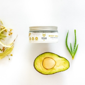 Linden tree body cream avocado oil aloe vera extract vegan fox hand made