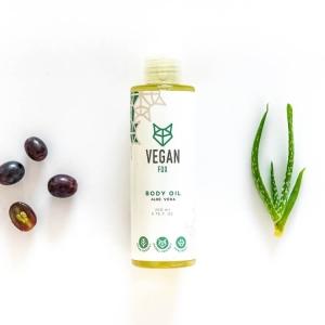 Aloe vera body oil vegan fox hand made