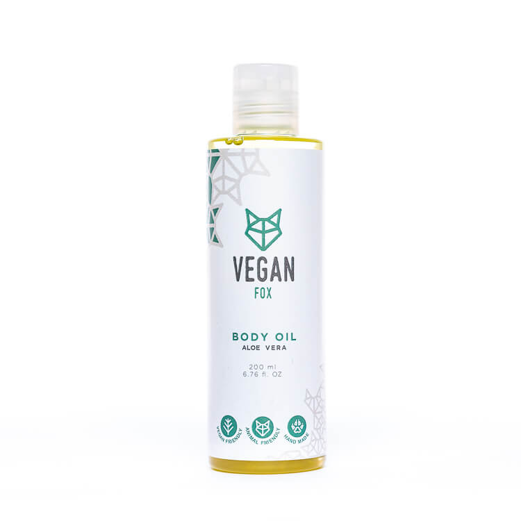 Aloe vera body oil vegan fox hand made