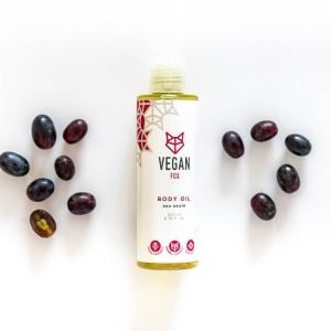 Red grape body oil vegan fox hand made