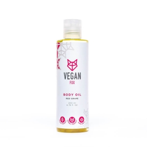 Red grape body oil vegan fox hand made