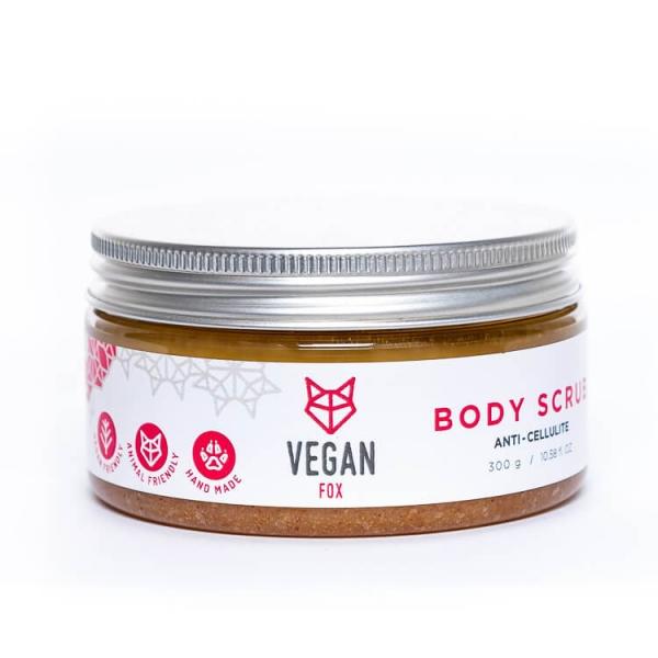 Anti cellulite ginger natural body scrub shea butter avocado oil vegan fox hand made