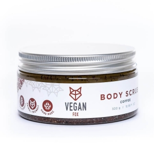 Coffee natural body scrub shea butter jojoba oil vegan fox hand made