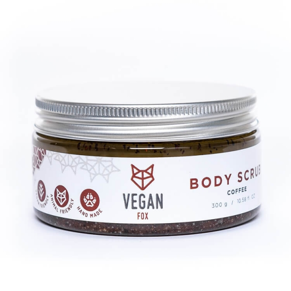 Peppermint natural body scrub shea butter jojoba oil vegan fox hand made