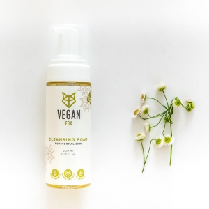 Cleansing foam for normal face skin camomile extract vegan fox hand made