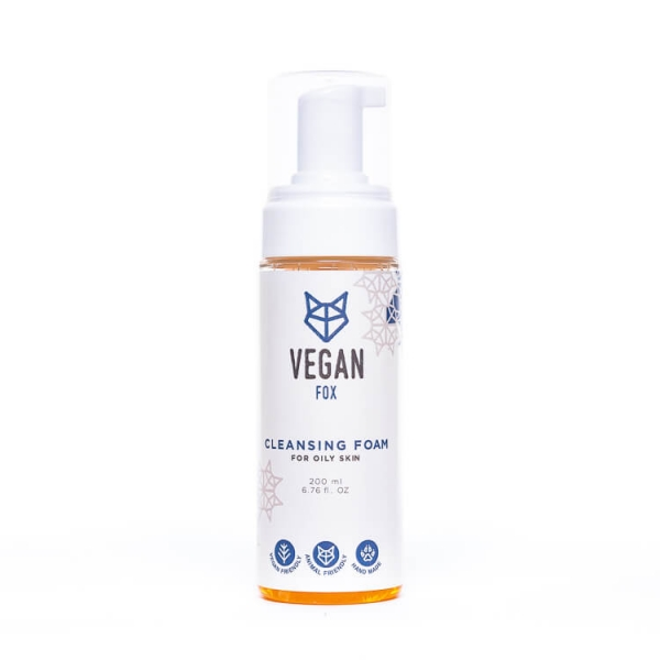 Cleansing foam for oily face skin calendula marigold extract salvia extract birch leaf extract vegan fox hand made