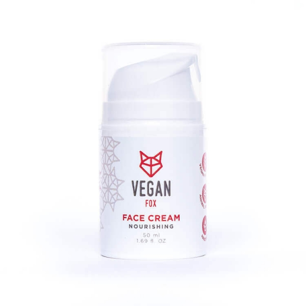 Nourishing face cream sweet almond oil avocado oil camomile extract vegan fox hand made