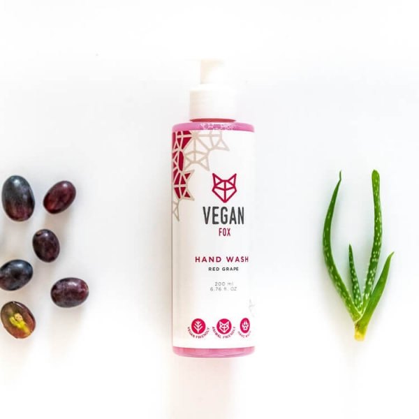 Red grape hand wash vegan fox hand made