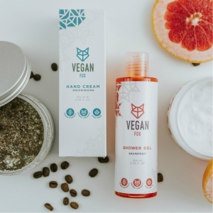 body care bundle hand cream body cream coffee scrub shower gel vegan fox