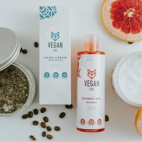 body care bundle hand cream body cream coffee scrub shower gel vegan fox