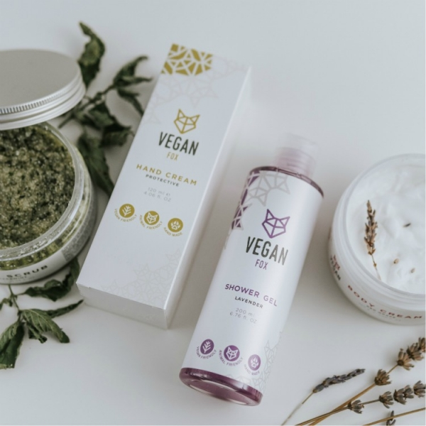 body care bundle hand cream body cream peppermint scrub shower gel vegan fox