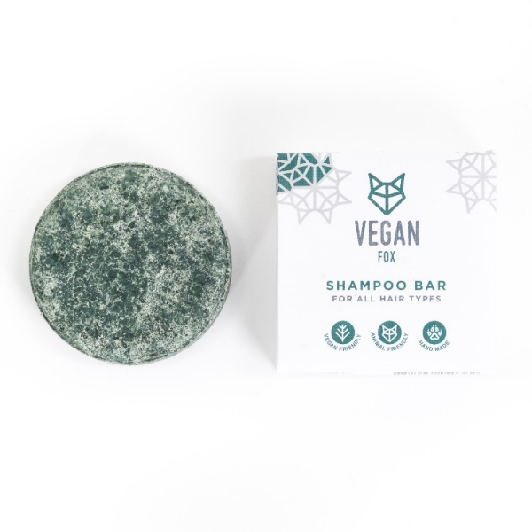 natural solid shampoo shampoo bar all type hair vegan fox hand made