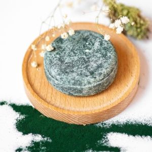 natural solid shampoo shampoo bar all type hair spirulina vegan fox hand made