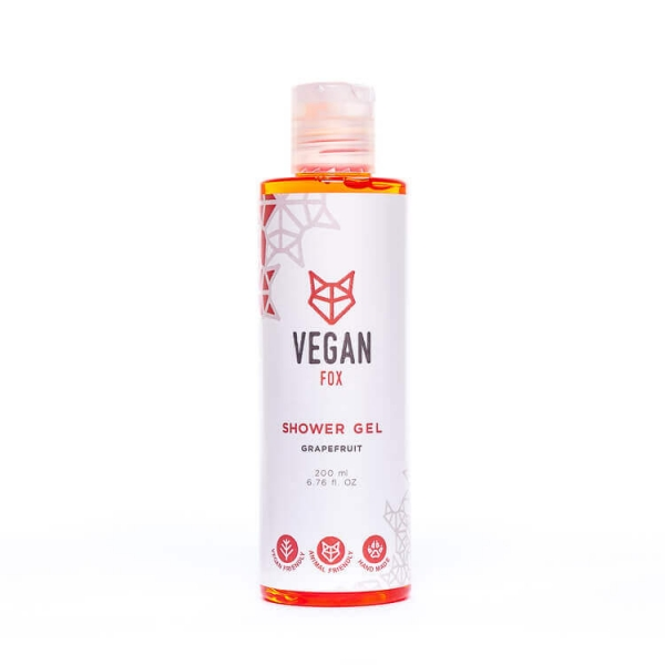 Grapefruit shower gel vegan fox hand made