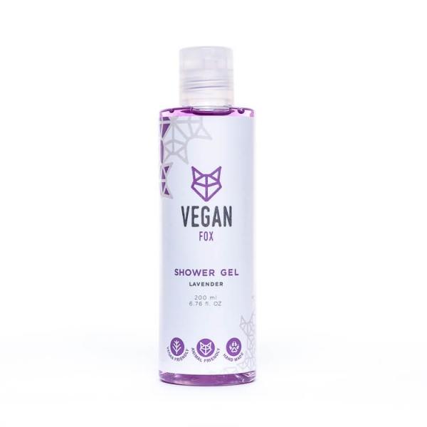 Lavender shower gel vegan fox hand made