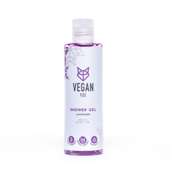 Lavender shower gel vegan fox hand made