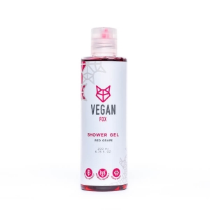 Red grape shower gel vegan fox hand made